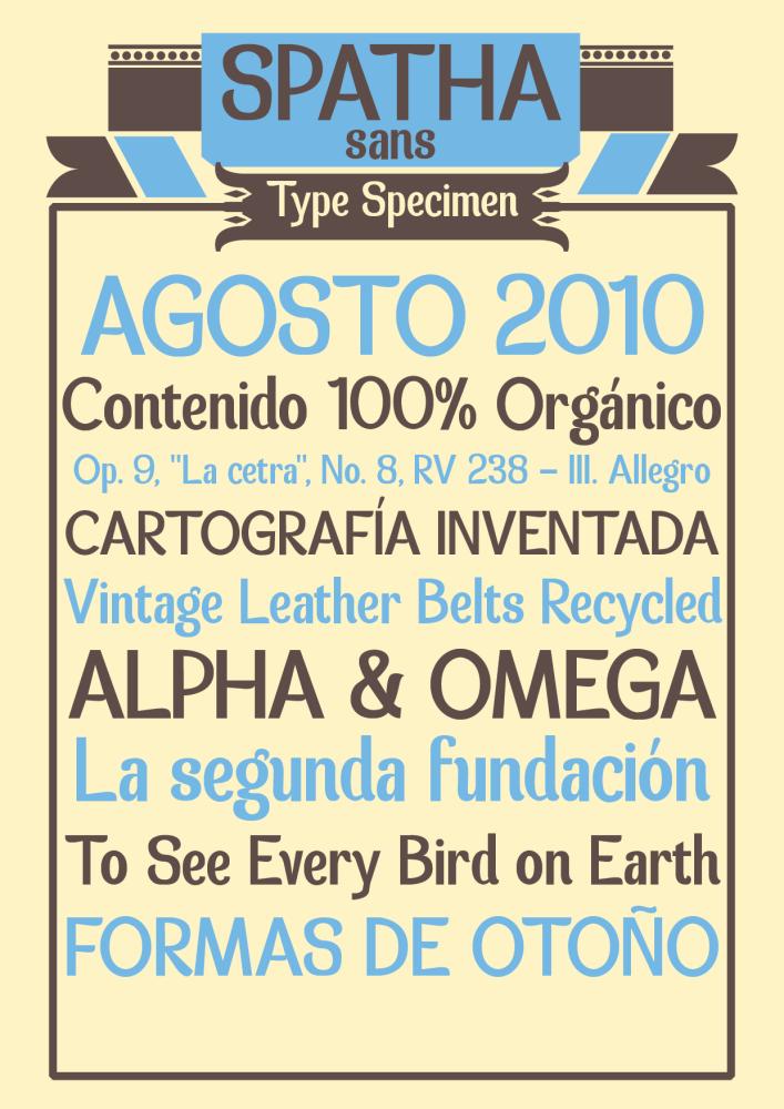 Tipografía gratis: Spatha Sans (1/2)