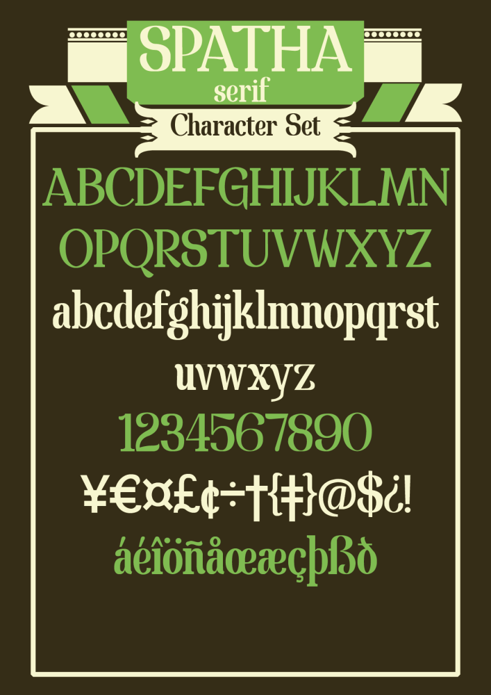 Tipografía Gratis: Spatha Serif (2/2)